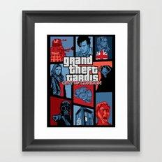 Grand Theft Tardis - City of London Framed Art Print