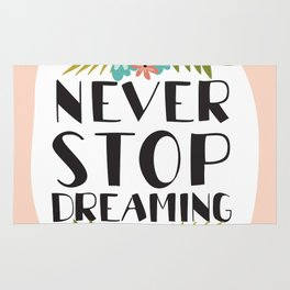 neve stop dreaming Rug