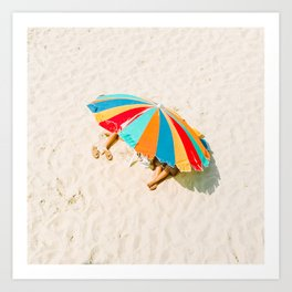 California Colors - Colorful Umbrella - v20 Art Print