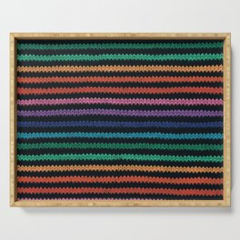 Knitted rainbow Serving Tray