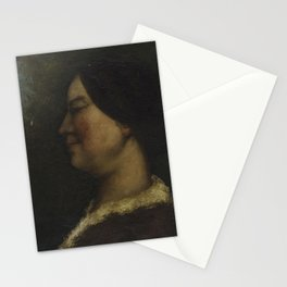 Gustave Courbet - Portrait de femme Stationery Cards