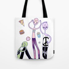 Outer Space Food Club Fashion Aliens Tote Bag