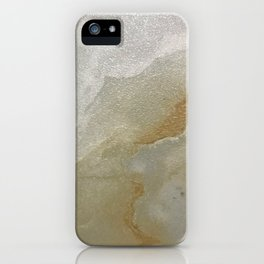 Soft Gold and Creamy Marble Pattern iPhone Case
