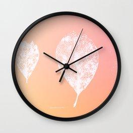 Skeleton leaves (sunkissed) Wall Clock