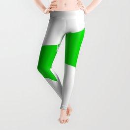 Green Isolated Megaphone Leggings