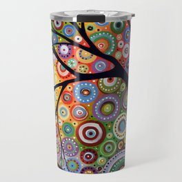 Abstract Landscape Original Painting...VISIONS OF NIGHT, by Amy Giacomelli Travel Mug