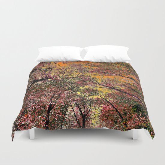 Colored forest Duvet Cover