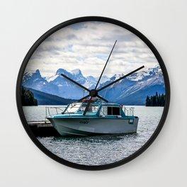 Maligne Lake Wall Clock