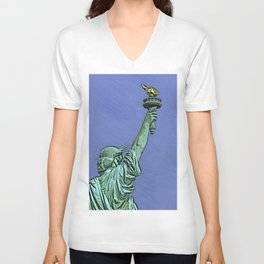 Lady Liberty #6 Unisex V-Neck