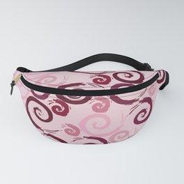 Red Pink Swirls Fanny Pack