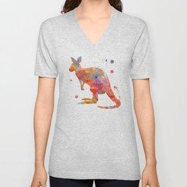 Colorful Kangaroo Unisex V-Neck