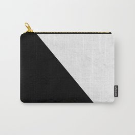 Marble And Black Diagonal Carry-All Pouch