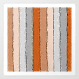 orange lines Art Print