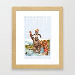 Give it back Framed Art Print