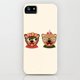 Jumelles oursonnes iPhone Case