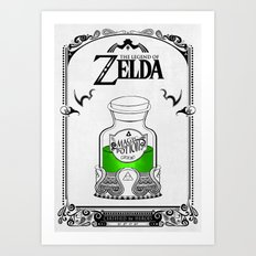 Zelda legend - Green potion  Art Print