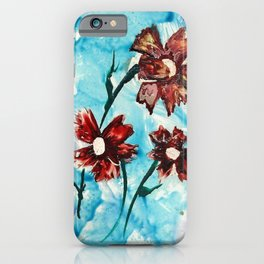 Brown flowers iPhone Case