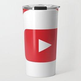 youtube youtuber - broadcast best design you tube for YouTube lover Travel Mug