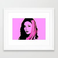 2ne1 Framed Art Prints featuring Sandara Park (Dara - 2NE1) by Hileeery
