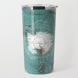 Antarctica Vintage map Travel Mug