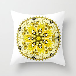 Solar Plexus Chakra Mandala Throw Pillow