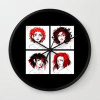 suits Wall Clocks featuring The Suits by AndytheLemon