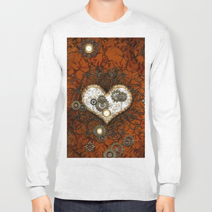 Steampunk, wonderful heart Long Sleeve T-shirt