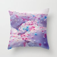 sprinkles Throw Pillows featuring Sprinkles by J.MK