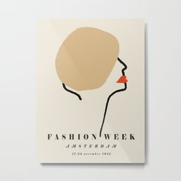 Poster-Faschion week-Amsterdam. Metal Print