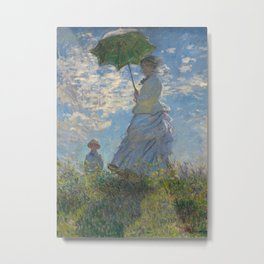 Woman with a Parasol - Madame Monet and Her Son Metal Print