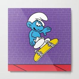 Ollie Smurf Metal Print