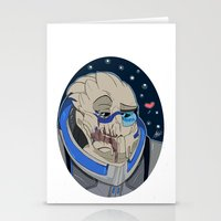 garrus Stationery Cards featuring Garrus Vakarian by ArtisticCole
