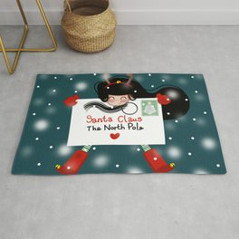 LETTER TO SANTA CLAUS Rug