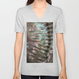 Shimmery Greenish Pink Abalone Mother of Pearl Unisex V-Neck