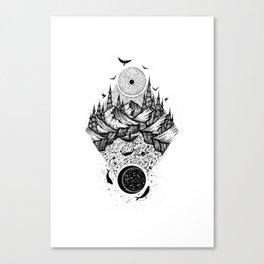 Sun vs Moon Canvas Print
