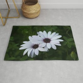 Friendship - Two African Daisies Rug