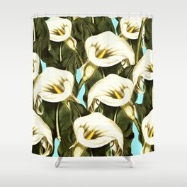 Pattern floral Ethiopian-Calla Shower Curtain