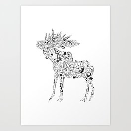 Many shapes of the Moose Art Print