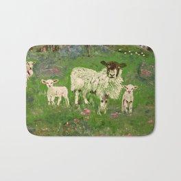 Lambs in the Meadow Bath Mat