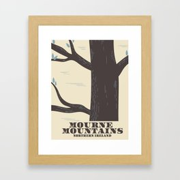 mourne mountains northern ireland travel poster Framed Art Print