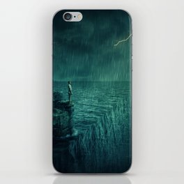 At the edge of Nothing iPhone Skin