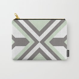 Urban Geometric modern square shapes mid century pattern soft pastel green Carry-All Pouch