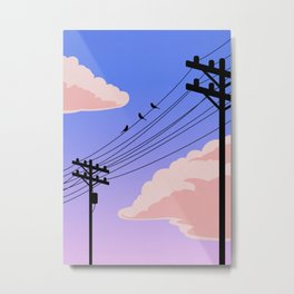 Evening Skyline Metal Print