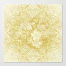Secret garden in gold Canvas Print