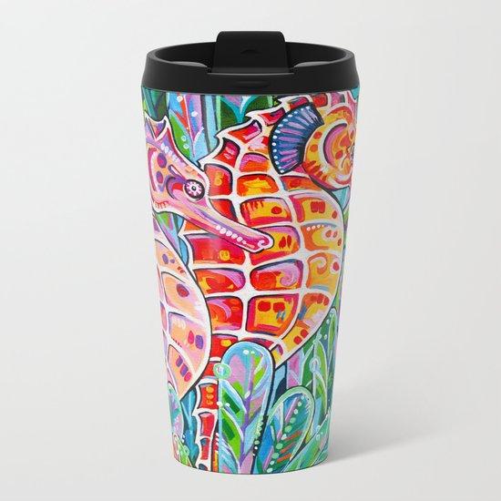 Seahorses Metal Travel Mug
