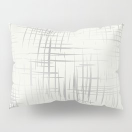 Crosshatch Silver Pillow Sham