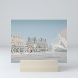 Santiago Calatrava - Valencia Modern Architecture Minimal travel photography Mini Art Print