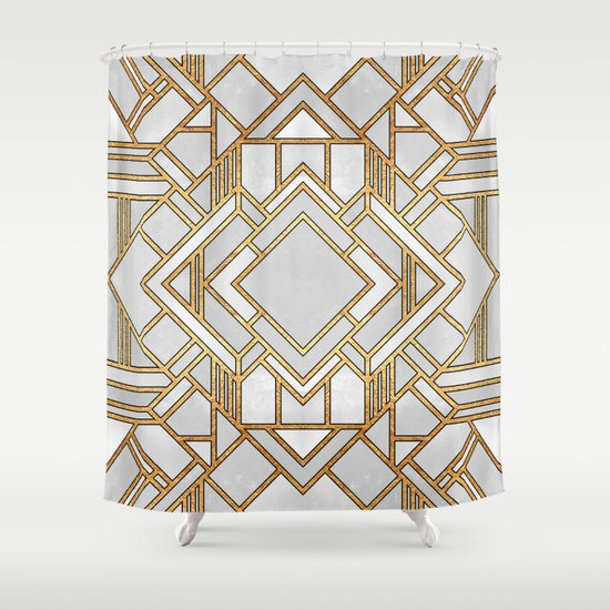 Art Deco 1 Shower Curtain By Elisabeth Fredriksson