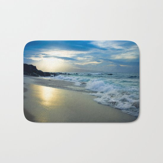 One Dream Sunset Hookipa Beach Maui Hawaii Bath Mat