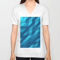 polygon V-neck T-shirts featuring Polygon Five by Jambot